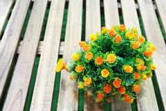 Букет крошечных оранжевых цветков Стоковое фото RF