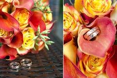 Букет оранжевых роз и коал Стоковое Изображение RF