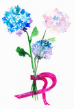 Букет от свежих цветков hortensia Стоковое Изображение RF