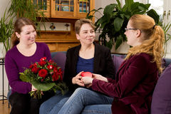 Букет подарка дня матерей розовый Стоковое фото RF