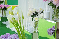 Букет розовой гортензии цветет в вазе Флористический натюрморт с hortensia Стоковые Фотографии RF