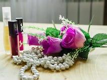 букет розовых роз губной помады и дух Стоковое Изображение