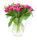Букет розовых тюльпанов в вазе стоковое фото rf