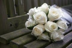 Букет роз свадьбы Стоковая Фотография