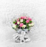 Букет свадьбы красивых роз цветков Стоковое фото RF