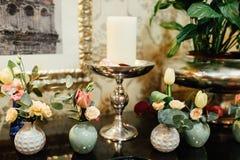 Букет свадьбы с цветками стоковые изображения