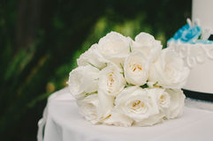 Букет свадьбы белой розы Стоковая Фотография