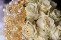 Букет свадьбы желтых роз Стоковые Фотографии RF