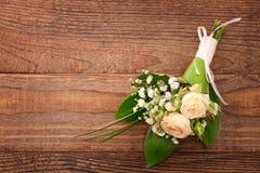 Букет свадьбы, предпосылка Стоковые Фотографии RF