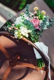 Букет свадьбы сделанный пиона Стоковая Фотография