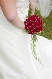 Букет свадьбы с красным roses.GN стоковое изображение