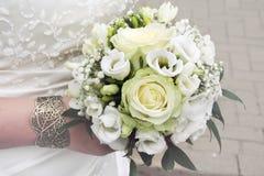 Букет свадьбы с розами Стоковые Фотографии RF