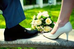 Букет свадьбы Стоковая Фотография