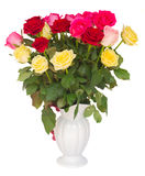 Букет свежих пестротканых роз Стоковые Фото