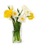 Букет свежих narcissus и тюльпанов Стоковое Фото