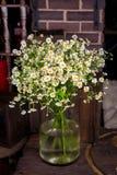 Букет стоцвета в стеклянной вазе Стоковые Изображения