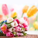 Букет тюльпанов стоковое фото rf
