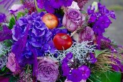 Букет фиолетовых цветков Стоковые Изображения