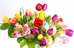 букет цветастая пасха цветет тюльпан Стоковое Изображение RF