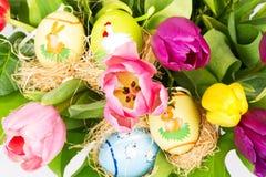 букет цветастая пасха цветет тюльпан Стоковые Фото