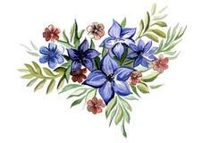 Букет цвета сини цветков Стоковые Фотографии RF