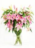 букет цветет пинк лилии Стоковые Фото