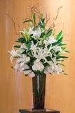 Букет цветка в стеклянной вазе Стоковые Фотографии RF
