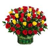 Букет цветка красных и желтых роз Стоковое Изображение RF