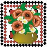 Букет цветка мака бесплатная иллюстрация
