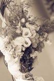 Букет цветка свадьбы для невесты стоковая фотография rf