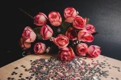 Букет цветка с черной предпосылкой стоковые изображения