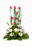 Букет цветков красного цвета розовых Стоковые Изображения