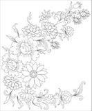 Букет цветков крася страницу для взрослых Стоковое фото RF