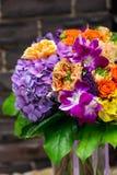 Букет цветков с орхидеями и hidrangea Стоковая Фотография RF