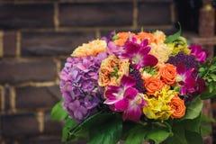 Букет цветков с орхидеями и hidrangea Стоковое Изображение