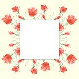Букет цветков, флористическая предпосылка акварели Яркий красный флористический букет Красивый абстрактный выплеск краски, моды иллюстрация вектора