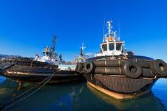 3 буксира в гавани Стоковая Фотография RF
