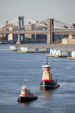 2 буксира в Нью-Йорке Стоковые Фото