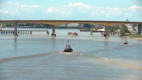 Буксиры Река Fraser, Британская Колумбия, Канада 4K UHD видеоматериал