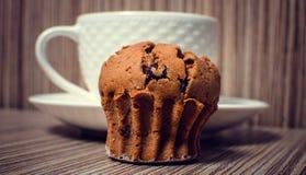 Булочка и кофе шоколада Стоковые Фотографии RF