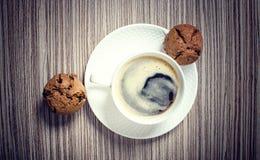 Булочка и кофе шоколада Стоковое фото RF