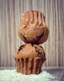 Булочка и кофе шоколада Стоковая Фотография