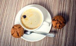 Булочка и кофе шоколада Стоковые Изображения RF