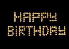 булочка пирожня дня рождения счастливая Стоковое Фото