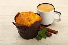 Булочка с кофе Стоковое Изображение
