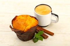 Булочка с кофе Стоковая Фотография RF