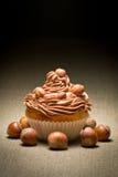 булочка фундуков шоколада cream Стоковое Изображение RF