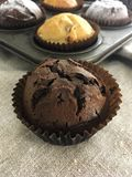 булочка шоколада близкая вверх Стоковое Изображение