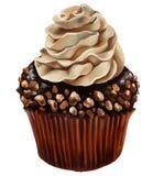 Булочка шоколада с отбензиниванием сливк amaretto Стоковые Фотографии RF