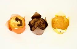 3 булочки изолированной на белой предпосылке Стоковые Фотографии RF